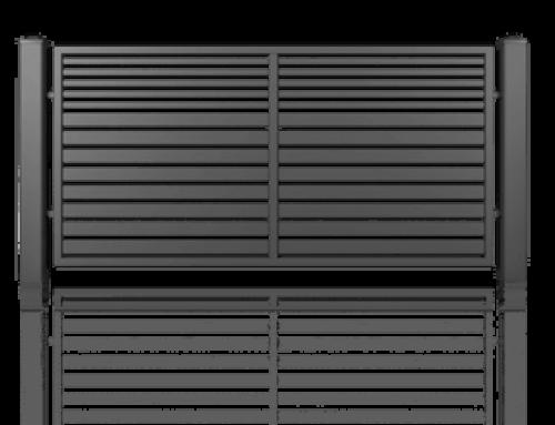 Brama ogrodzeniowa przesuwna 5000*1600 AW.10.106 MODERN kolor RAL.7016 LEWA