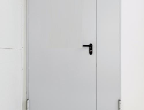 Drzwi stalowe 1960*2100 ECO RAL.7035 SZARE ZEWNĘTRZNE