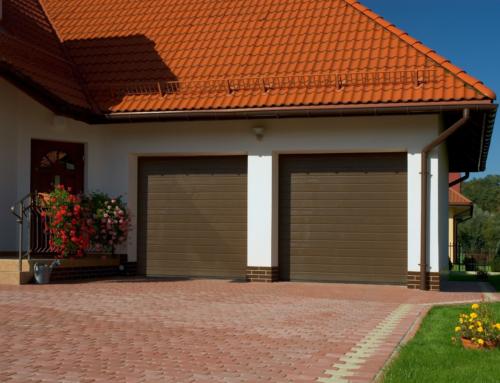 Brama segmentowa MAKROPRO 3500*3750 STL RAL.8014 + PRZEKŁADNIA